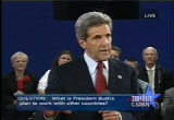 Still frame from: Presidential Debate - October 8, 2004