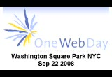 Still frame from: One Web Day - NYC 2008