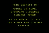 Still frame from: Myths and Realities of Domestic Violence