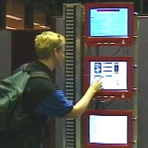 Sculpture of 1997 Web snapshot in the lobby of the Library of Congress