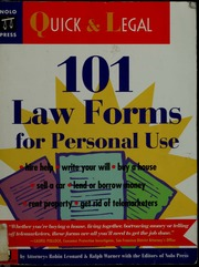 Law Forms For Personal Use Leonard Robin Free Download - Law forms for personal use