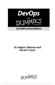 Devops For Dummies 2nd Ibm Limited Edition Bernie Coyne Sanjeev