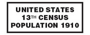 13th Population Census of the United States - 1910