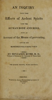 "benjamin rush essay 1 benjamin simons lucas, jr, ""an inaugural essay on malaria"" (md  tice11  the monogenist benjamin rush at the end of the eighteenth."