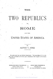or Rome and the United States of America The Two Republics