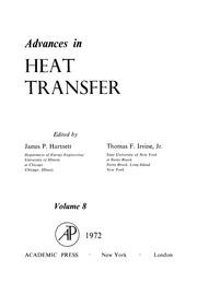 advances in heat transfer hartnett james p