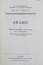 Community texts free books free texts free download borrow arabic reader chaim rabin fandeluxe Choice Image