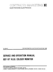 """G07 R.G.B Color 13/"""" /& 19/"""" Monitor Manual Original"""
