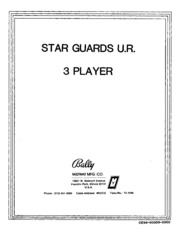Arcade Game Manual: Star Guards U.R. 3 Player by Bally/Midway : Free on