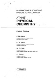 Atkins Physical Chemistry 8e Instructor S Solution Free Download