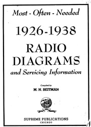 Beitman Most-Often-Needed Radio Diagrams and Service Information N M