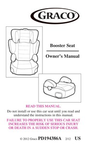 Graco Car Seat PD194386A User Manual Free Download Borrow And Streaming Internet Archive