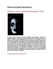Guerra de Cuarta Generacion : Manuel Freytas / Redes Alternativas ...