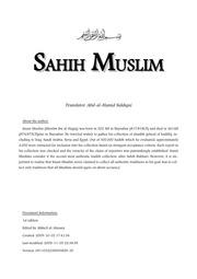 Hadith Sahih Muslim in English : Free Download, Borrow, and