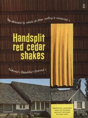 Certigrade handbook of red cedar shingles red cedar for Philip carey asbestos