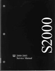 honda s2000 2000 2003 service manual honda motor co free rh archive org 2018 Honda S2000 Coupe Honda S2000 Convertible