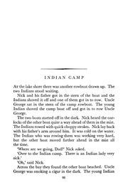 indian camp ernest hemingway