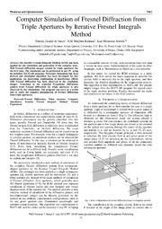fresnel diffraction integral