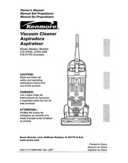 kenmore 216 31703 vacuum cleaner user manual kenmore free rh archive org Sears Upright Vacuum Cleaner Sears Upright Vacuum Cleaner