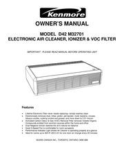 kenmore d42 m32701 air cleaner user manual kenmore free download rh archive org Kenmore HEPA Air Cleaner Filters Sears Kenmore Air Purifier