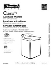kenmore oasis ht w10026626b washer user manual kenmore free rh archive org Kenmore Washer Model 110 Kenmore Washer Not Spinning