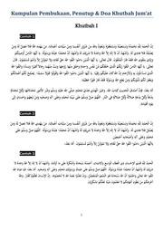 Kompilasi Pembukaan Doa Khutbah Free Download Borrow And