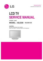 service manual lg 42lg50 free download borrow and streaming rh archive org lg lcd tv service manual pdf lg lcd service manual pdf