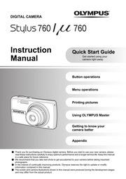 olympus stylus 760 user manual download