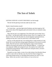 son of sobek rick riordan free download borrow and streaming internet archive