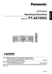 panasonic panasonic projector pt ae1000u projector user manual rh archive org panasonic 21k projector manual panasonic pt-d6000 projector manual