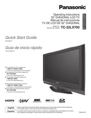 panasonic tc 32lx700 flat panel television user manual panasonic rh archive org Panasonic Flat Screen TV Panasonic Flat Screen TV