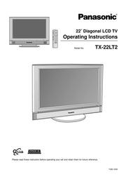 panasonic tx 22lt2 flat panel television user manual panasonic rh archive org Panasonic Remote Control Panasonic TV