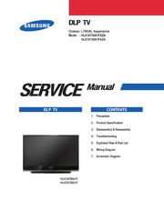 service manual samsung hl61a750 hl67a750 led dlp free download rh archive org Samsung Remote Control Samsung TV Remote