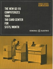 General Electric GE-115 Computer Overview and Brochure: : Free Download & Streaming : Internet Archive