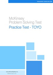 mckinsey problem solving test pst 2013