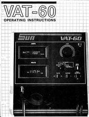 sun electric corp vat 60 operations manual sun electric rh archive org Sun VAT 60 Battery Tester VAT 60 Battery Tester