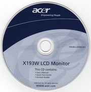 Quick Start guide User manual Acrobat reader CD drivers for Acer LCD Monitor