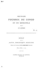 Nouvelles fourmis du Congo et du Benguela
