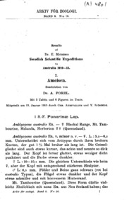 Results of Dr. E. Mjöbergs Swedish Scientific Expeditions to Australia 1910-1913. 2. Ameisen
