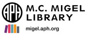 American Printing House for the Blind, Inc., M. C. Migel Library