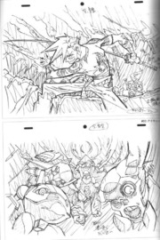 Groundwork Of Gurren Lagann 1 Animation Art Book Collection of original pictures