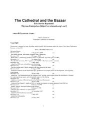 essay cathedral and the bazaar
