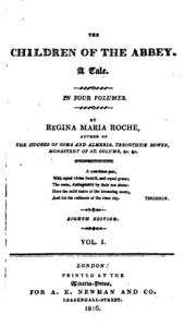 children of the abbey by roche essay English major courses  ethelinde regina maria roche, the children of the abbey  of the thesis as well as the required essay that accompanies the.