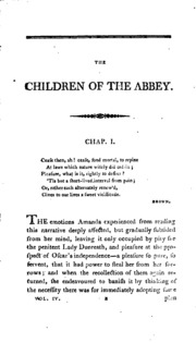"""children of the abbey by roche essay All three of her children and a granddaughter are placer high graduates  in  1960, he wrote in a high school essay, """"preparations for college  belmont  abbey college/collegiate merit scholarship/soccer - rachel roche,."""