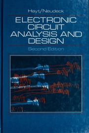 electronic circuit analysis and design hayt, william hart, 1920