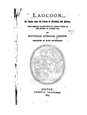 lessing an essay on the limits of painting and poetry Lessing laocoon an essay on the limits of painting and poetry pdf никита сюкосев .