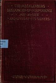 mecklenburg declaration of independence