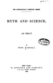 internet search myth and science tito vignoli myth and science an essay
