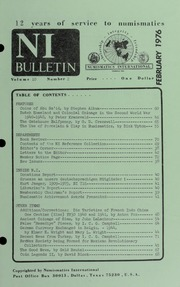 Numismatics International Bulletin, Vol. 10, No.2