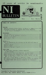 Numismatics International Bulletin, Vol. 10, No.7